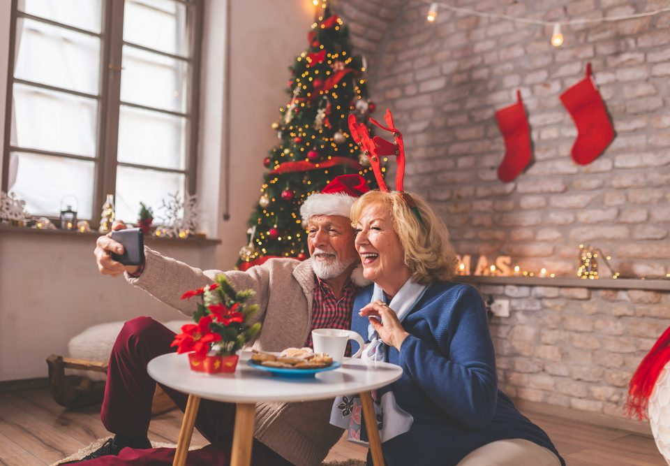 senior-involved virtual holiday celebrations