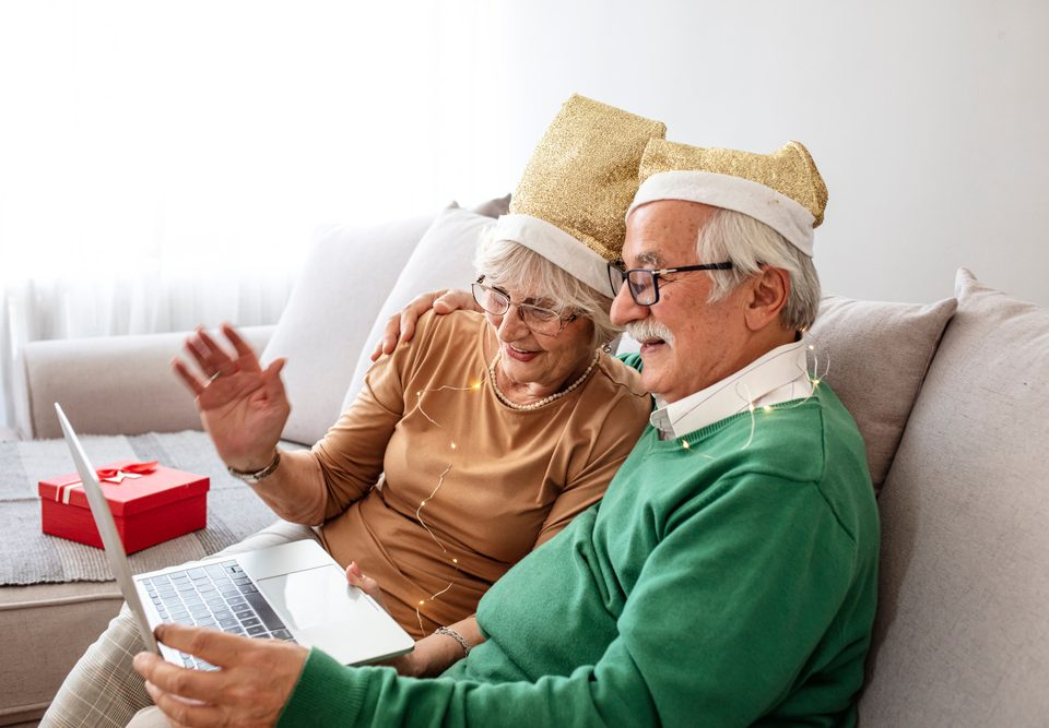 3 senior virtual holiday party
